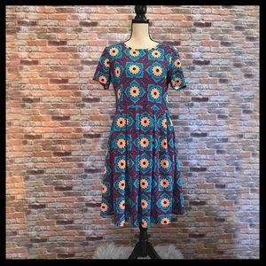 LuLaRoe Amelia Printed Dress